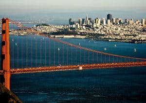San Francisco, California. The US West Coast was an early target for Enron's aggressive and misguided expansion.