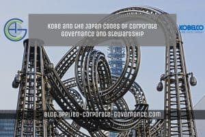 Image of large steel sculpture: Kobe and the Japanese Codes of Corporate Governance and Stewardship - Applied Corporate Governance Blog